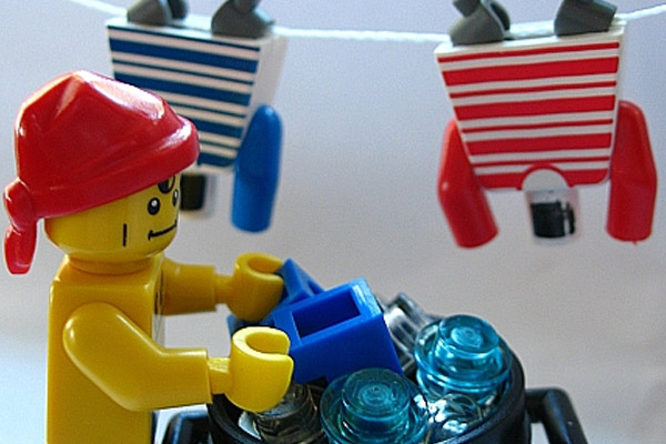 Lego schoonmaken