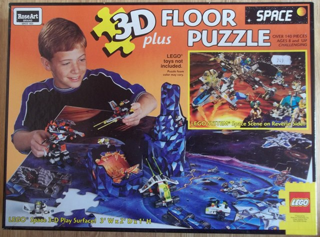 Rose Art Floor Puzzle, Space, 3D (1997)